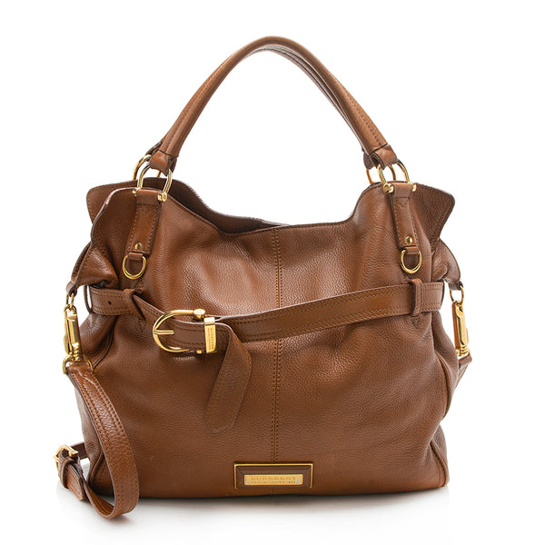Burberry Leather Belted Tote