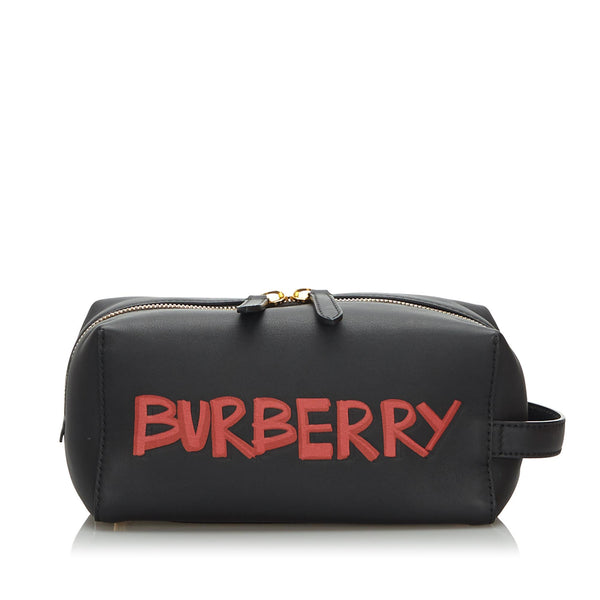 Burberry Leather Graffiti Clutch  (SHG-10029)