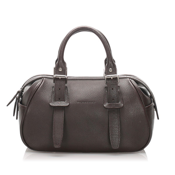 Burberry Leather Handbag (SHG-10249)