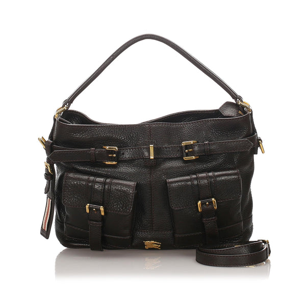 Burberry Leather Satchel (SHG-10365)