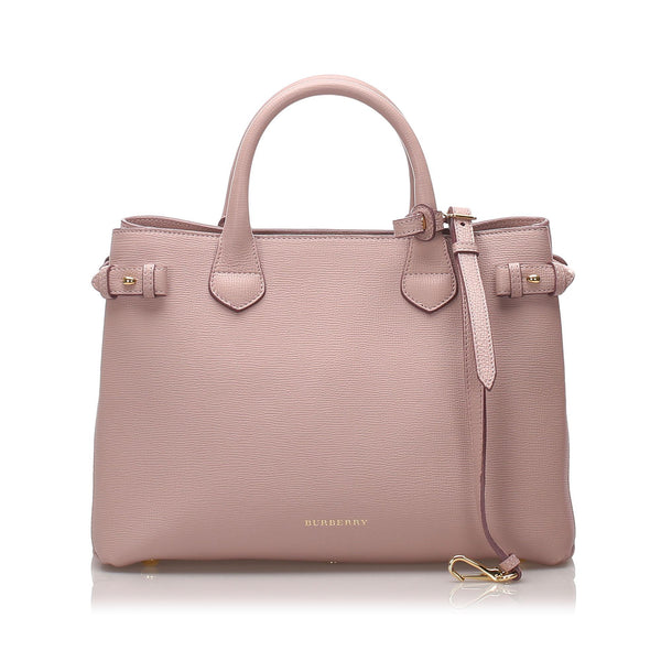 Burberry Medium Leather Banner Tote (SHG-10391)