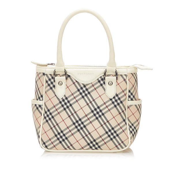 Burberry Nova Check Canvas Handbag (SHG-18819)