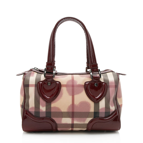 Burberry Painted Hearts Boston Satchel (SHF-11304)