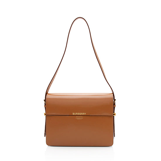 Burberry Two-Tone Leather Grace Large Shoulder Bag (SHF-11227)