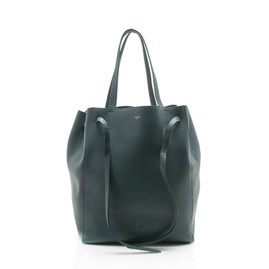Celine Leather Cabas Phantom Medium Tote