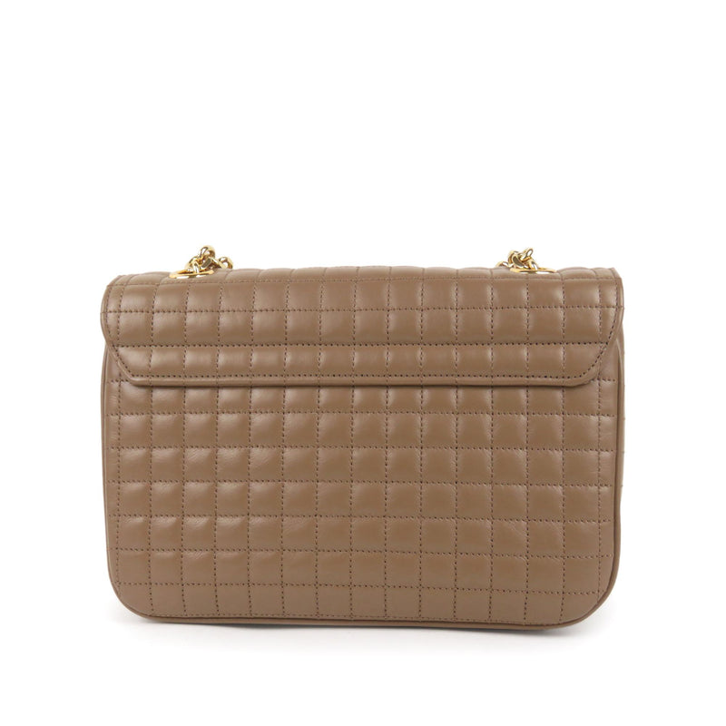 Celine Quilted Leather Medium C Bag (SHG-10047)