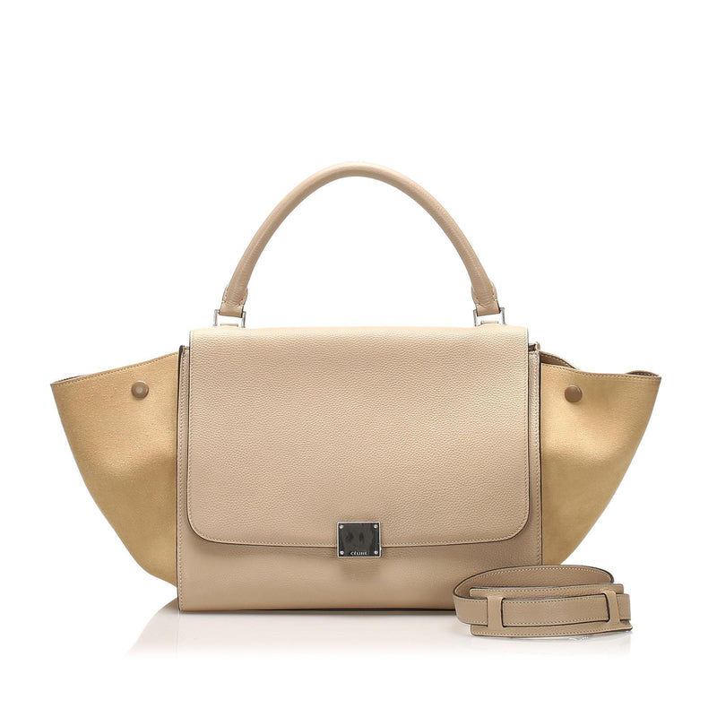 Celine Trapeze Leather Satchel (SHG-12346)