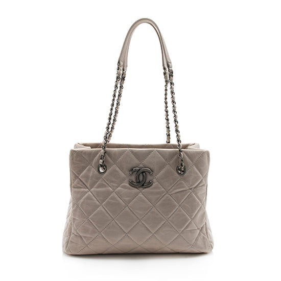 Chanel Calfskin Coco Soft Small Shopping Tote