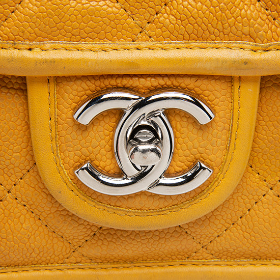 Chanel Caviar Leather French Riviera Mini Flap Bag