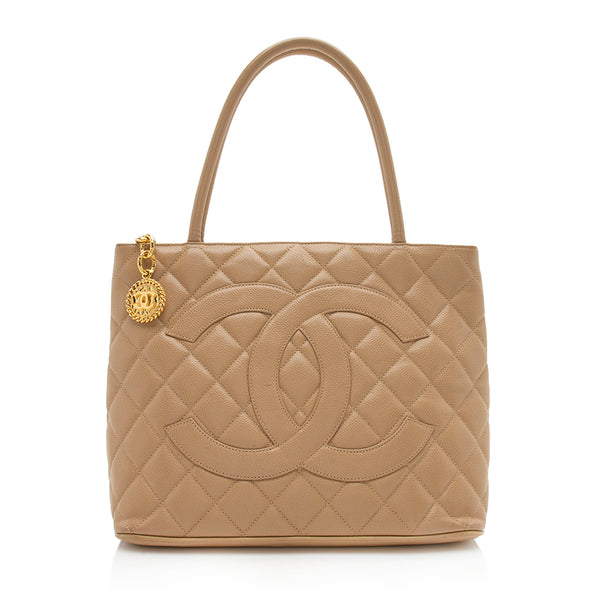 Chanel Caviar Leather Medallion Tote (SHF-12194)