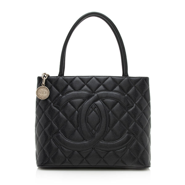 Chanel Caviar Leather Medallion Tote (SHF-12196)