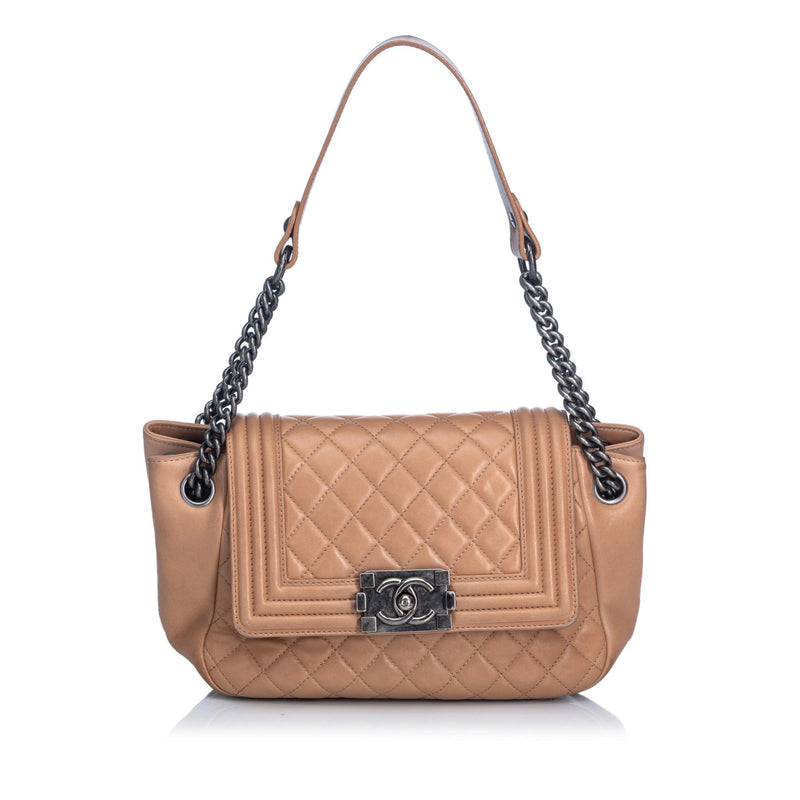 Chanel Lambskin Boy Accordion Flap Bag (SHG-10326)
