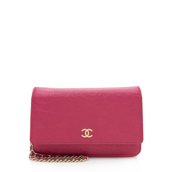 Chanel Lambskin Camellia Wallet on Chain Bag (SHF-12251)