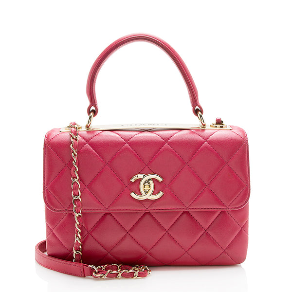 Chanel Lambskin Trendy CC Top Handle Small Shoulder Bag (SHF-12924)