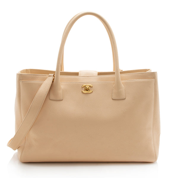 Chanel Leather Cerf Classic Executive Tote (SHF-12298)