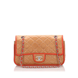 Chanel Lambskin Medium Double Flap Bag (SHG-12185)