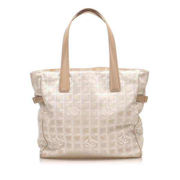 Chanel New Travel Line Canvas Tote Bag (SHG-14838)
