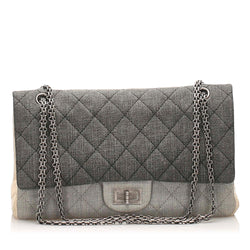 Chanel Reissue Quilted Denim Double Flap Bag (SHG-10342)