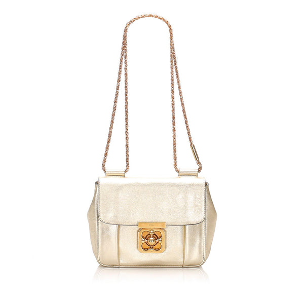 Chloe Elsie Leather Crossbody Bag (SHG-11266)