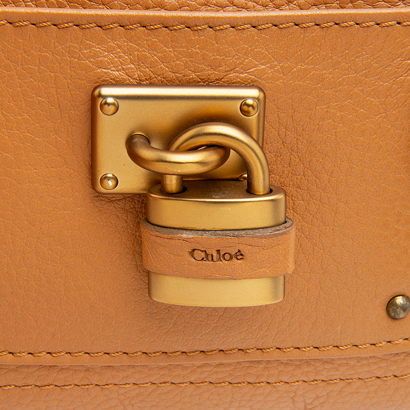 Chloe Leather Paddington Clutch (SHF-12061)