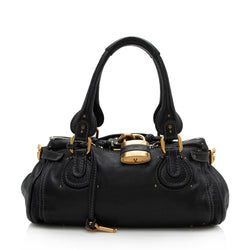 Chloe Leather Paddington Medium Satchel (SHF-12157)