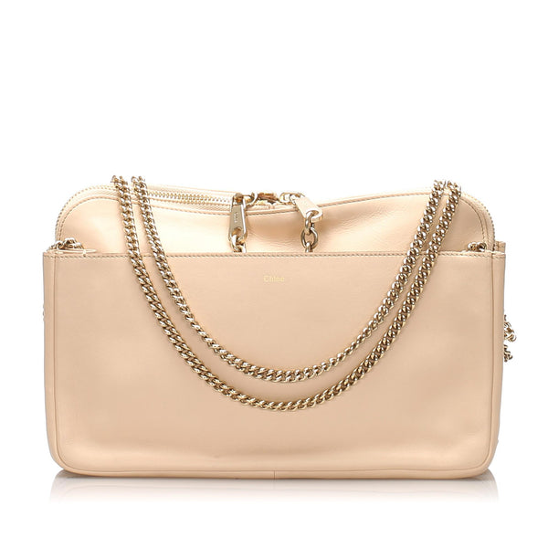 Chloe Lucy Leather Shoulder Bag (SHG-10926)