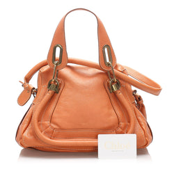 Chloe Leather Small Paraty Satchel (SHG-10237)