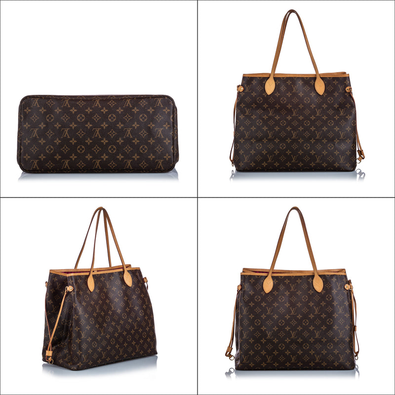 Pre-Loved Louis Vuitton Brown Monogram Canvas Neverfull GM France