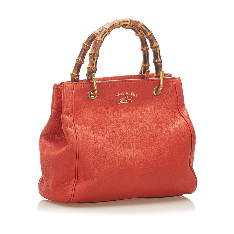 Gucci Bamboo Shopper Leather Satchel (SHG-18353)