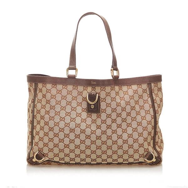 Gucci GG Canvas Abbey D- Ring Tote Bag (SHG-18455)