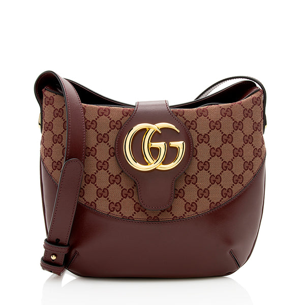 Gucci GG Canvas Arli Medium Shoulder Bag (SHF-12344)