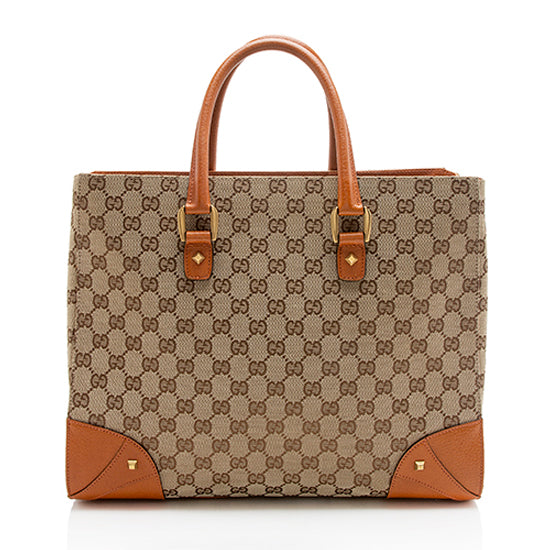Gucci  GG Canvas Nailhead Large Tote