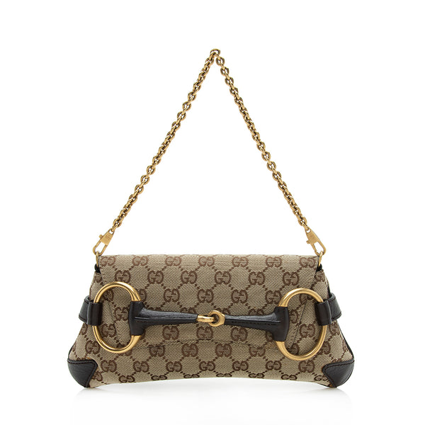 Gucci GG Canvas Tom Ford Horsebit Small Clutch (SHF-12040)