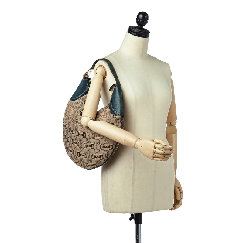 Gucci Horsebit Canvas Hobo Bag (SHG-16920)