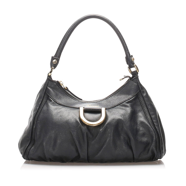 Gucci Leather Abbey D-Ring Shoulder Bag (SHG-10102)