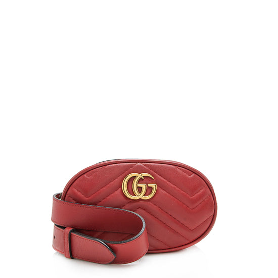 Gucci Matelasse Leather GG Marmont Belt Bag - Size 34 / 85