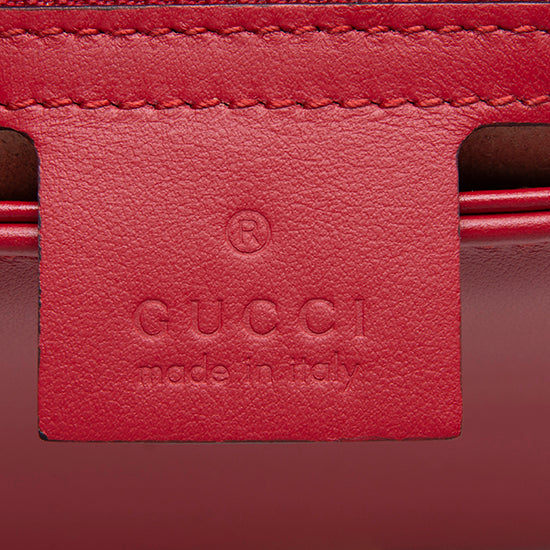 Gucci Matelasse Leather GG Marmont Medium Top Handle Bag