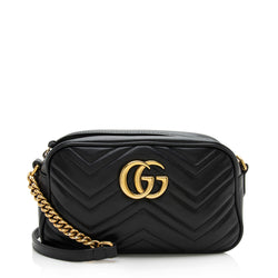Gucci Matelasse Leather GG Marmont Shoulder Bag (SHF-12336)