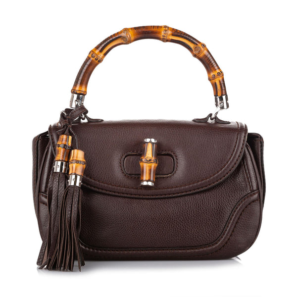 Gucci New Bamboo Leather Satchel (SHG-18442)