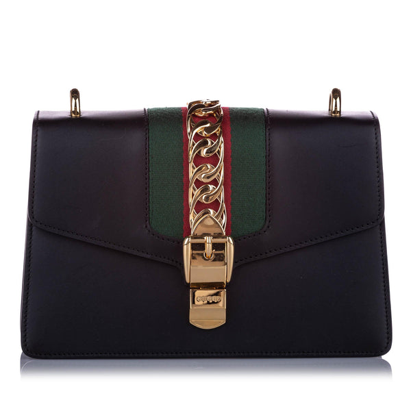 Gucci Small Sylvie Leather Shoulder Bag (SHG-10196)