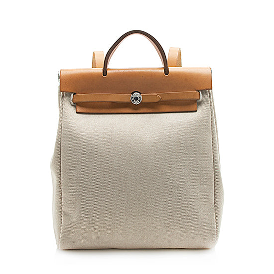 Hermes Canvas Herbag Sac a Dos Backpack