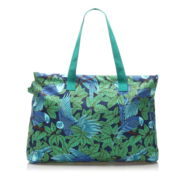 Hermes Printed Canvas Tote Bag (SHG-11688)