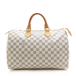 Louis Vuitton Damier Azur Speedy 35 Satchel (SHF-11910)