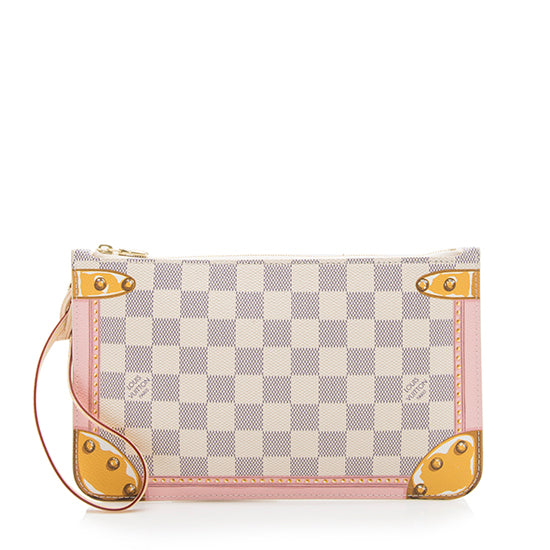 Louis Vuitton Monogram Canvas Summer Trunk Pochette (SHF-14030)