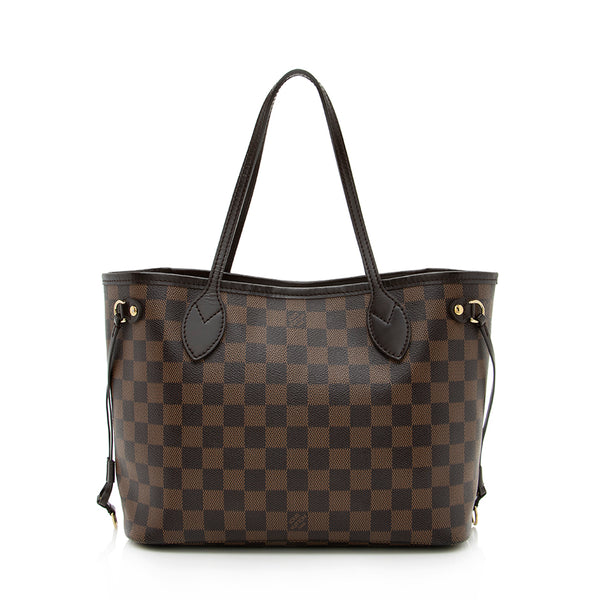 Louis Vuitton Damier Ebene Neverfull PM Tote (SHF-13678)
