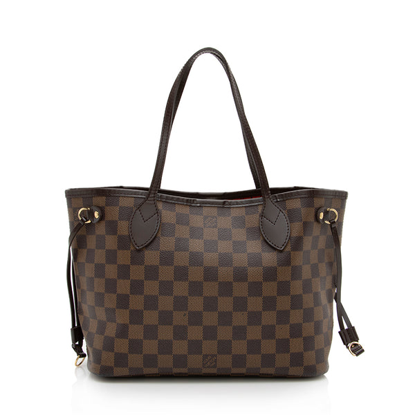 Louis Vuitton Damier Ebene Neverfull PM Tote (SHF-13799)