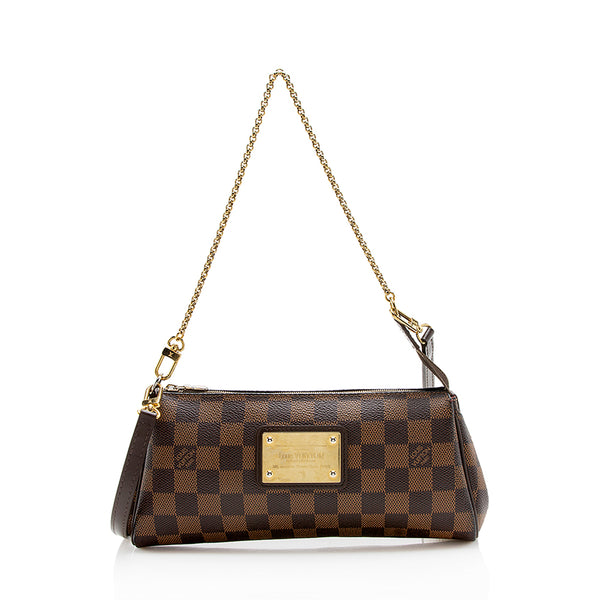 Louis Vuitton Damier Ebene Eva Clutch - FINAL SALE (SHF-12923)