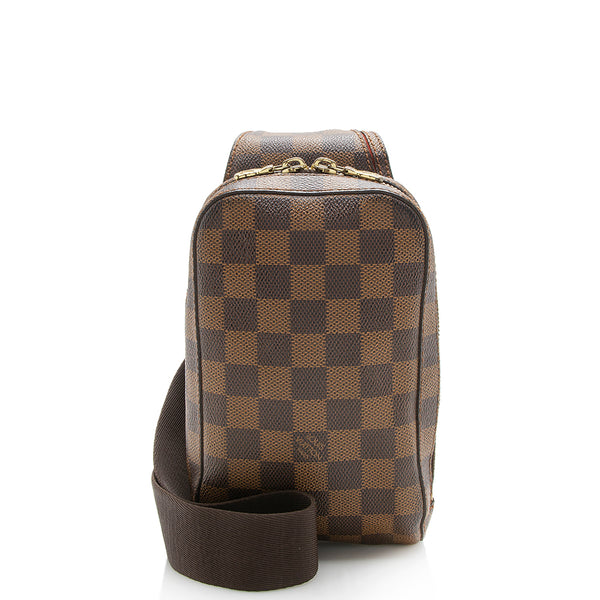 Louis Vuitton Damier Ebene Geronimos Sling Bag (SHF-12903)