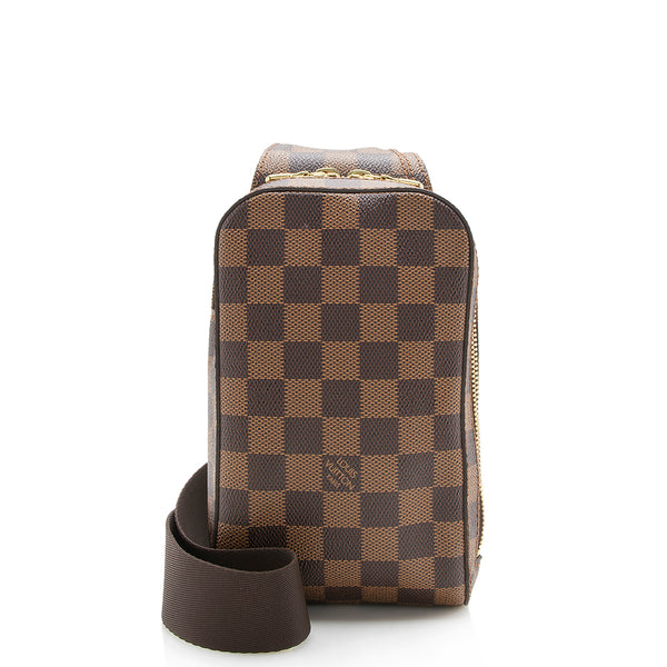 Louis Vuitton Damier Ebene Geronimos Sling Bag (SHF-12905)