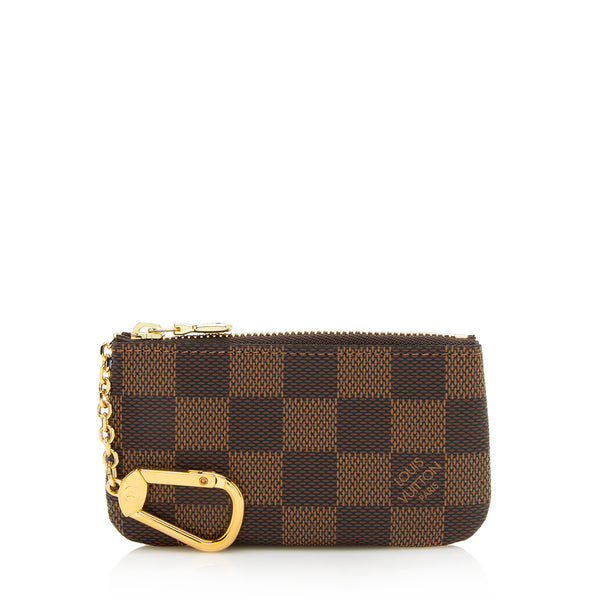 Louis Vuitton Damier Ebene Key Pouch (SHF-12961)
